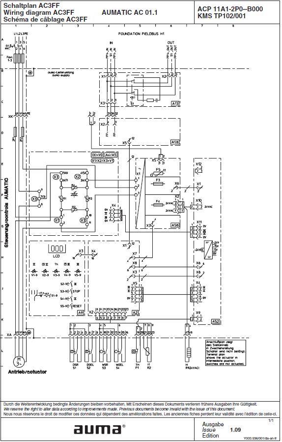 AUMA Riester GmbH. Электрические схемы AC3FF: AUMATIC on kubota remote hydraulic valve parts diagram, auma actuator parts, water meter installation diagram, limitorque actuators wiring diagram, butterfly valve diagram, auma actuators dwg, project scope diagram,